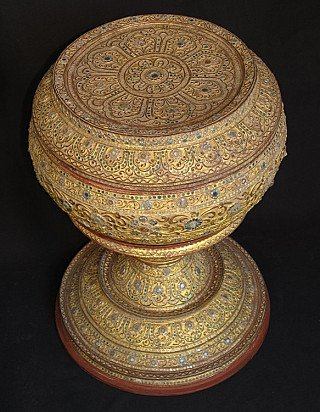 19th century Burmese offering vessel