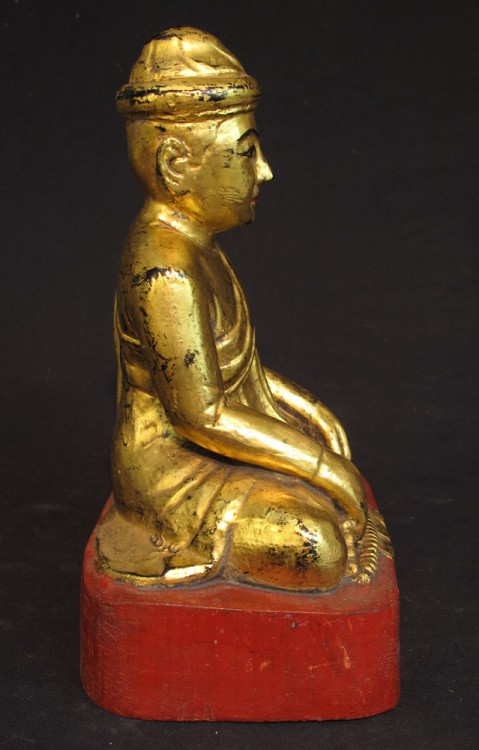 Antique Burmese monk from Burma made from Wood