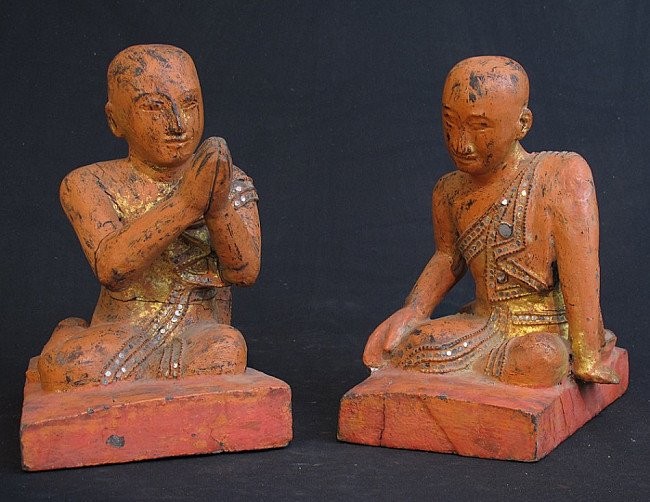 Set Burmese monks