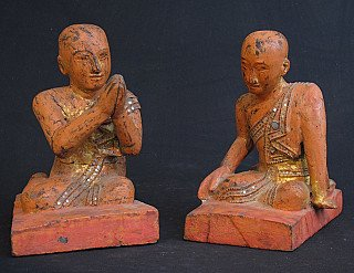 Set Burmese monks