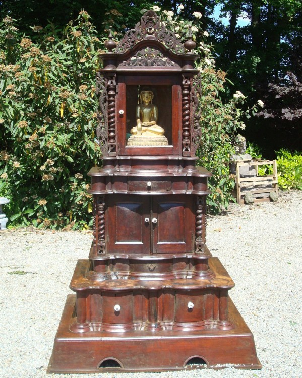Antique Burmese Puja Mandir from Burma made from Wood