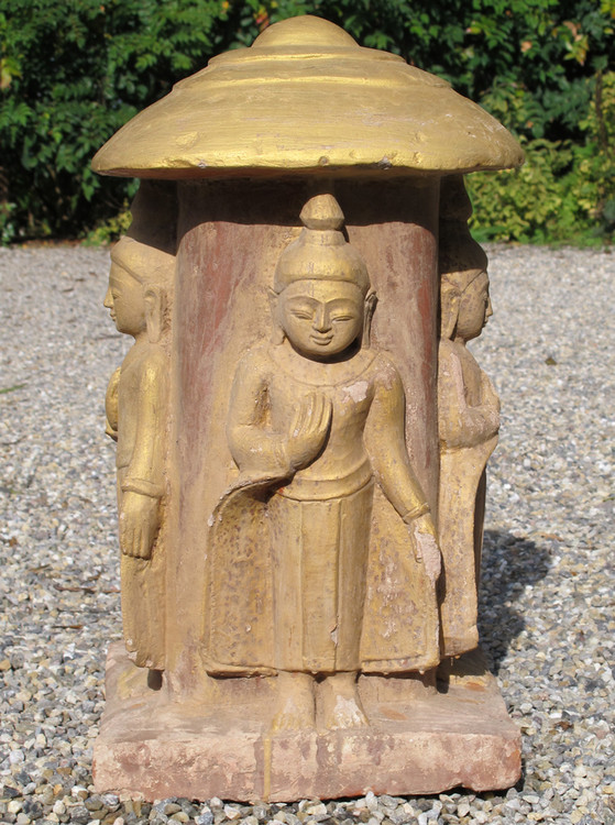 Antique sandstone Buddha from Burma made from Sandstone