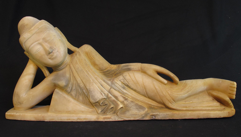 Antique reclining Buddha from Burma