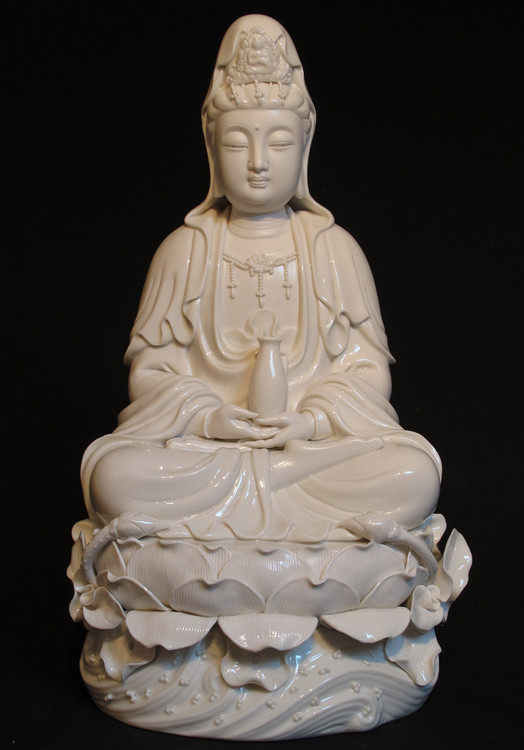 New sitting Guan Yin from China