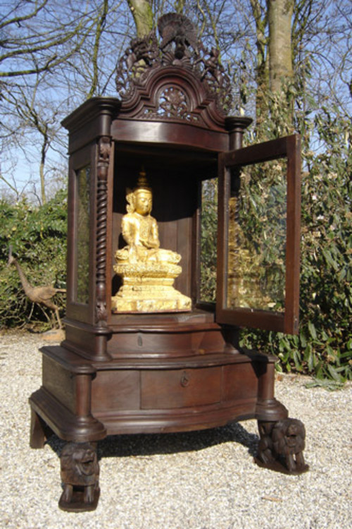 Antique temple from Burma made from