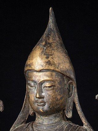 Old bronze Tibetan Lama