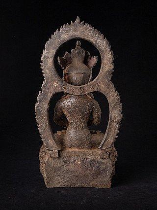 Old Chinese iron Buddha statue