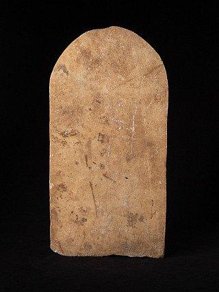 Antique marble Guan Yin panel