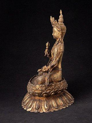 Old bronze Vajrasattva statue