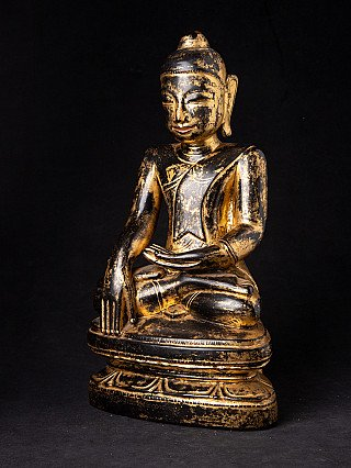 Special antique wooden Mon Buddha statue