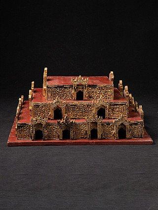Oud Birmees altaar - troon