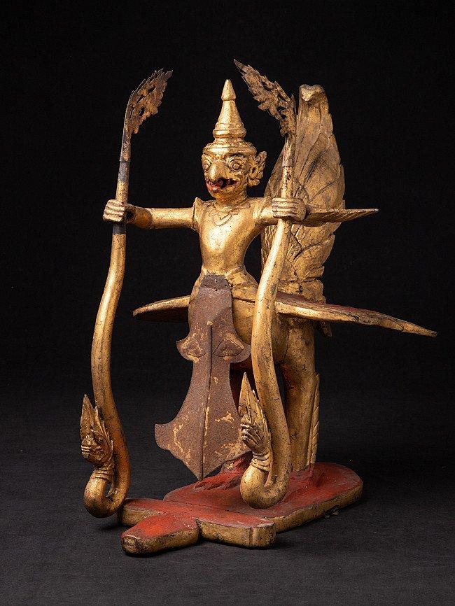 Antiek houten Garuda beeld