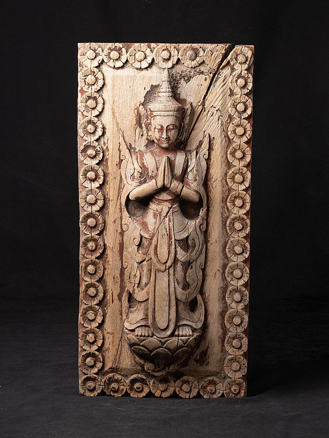 Antique wooden Temple panel