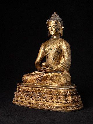 Alte Nepalesische Buddha Figur aus Bronze