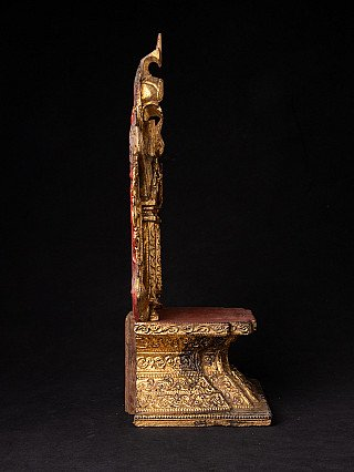 Antique wooden Buddha Throne