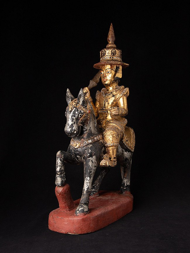 Antique Burmese Nat on horse