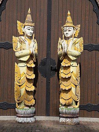 Large set of Burmese Nat statues