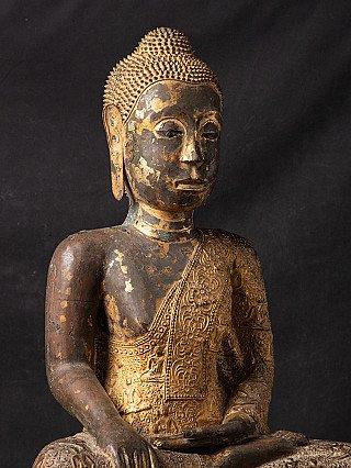 Large antique bronze Thailand Buddha statue