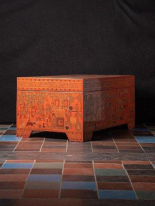 Large Burmese lacquerware box