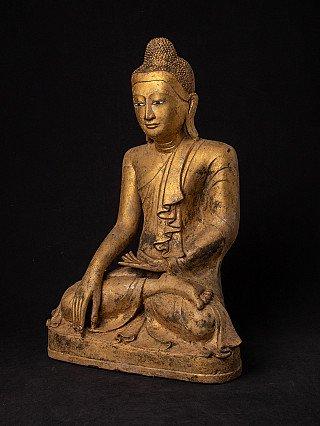 Large antique bronze Mandalay Buddha statue
