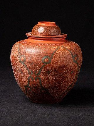 Newly made Burmese lacquerware bowl