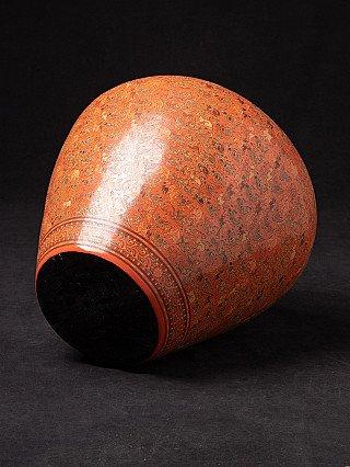 Newly made Burmese lacquerware vase