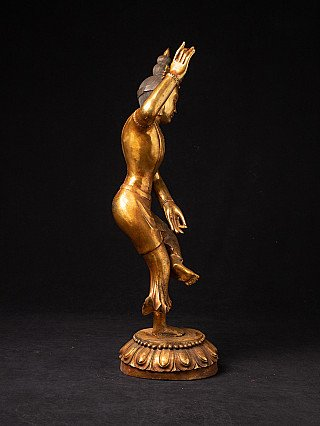 Old bronze dancing statue