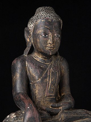 Antike Shan Buddha Figur