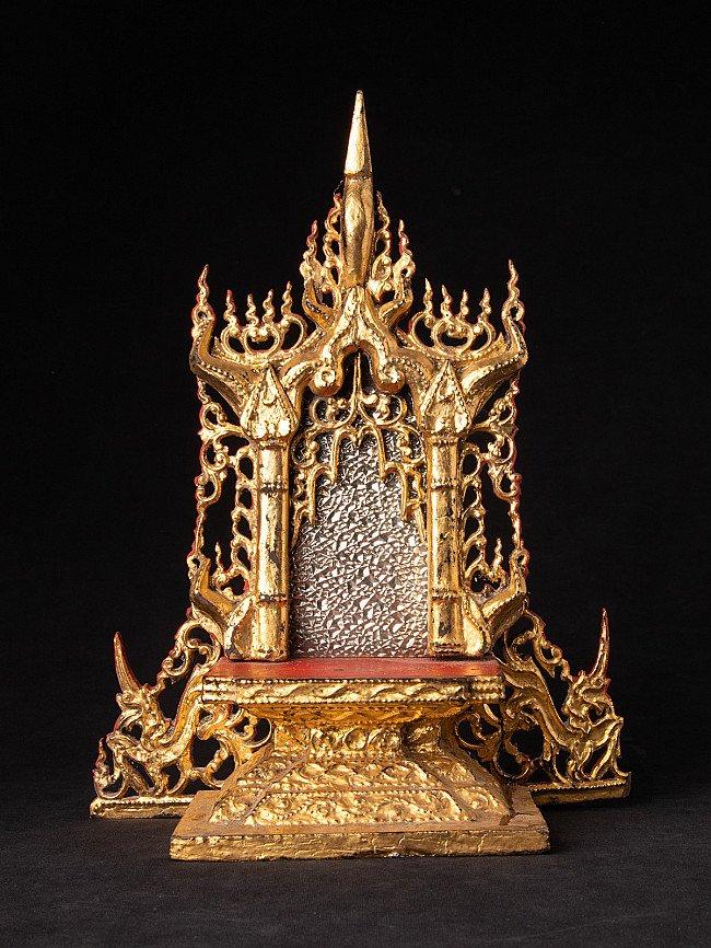 Antique Burmese wooden throne