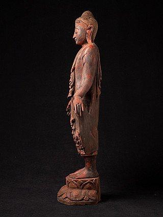 Old wooden Mandalay Buddh astatue