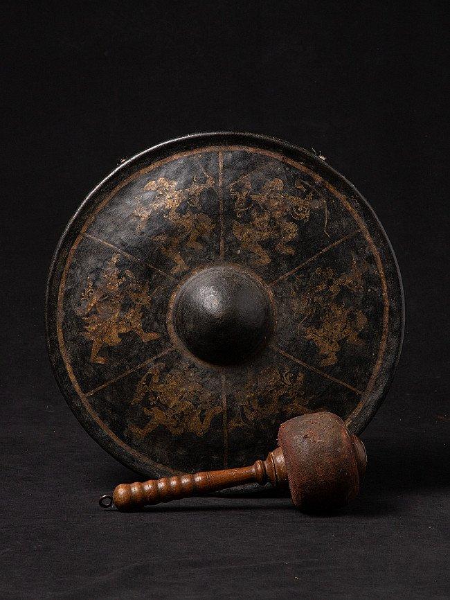 Antique bronze gong