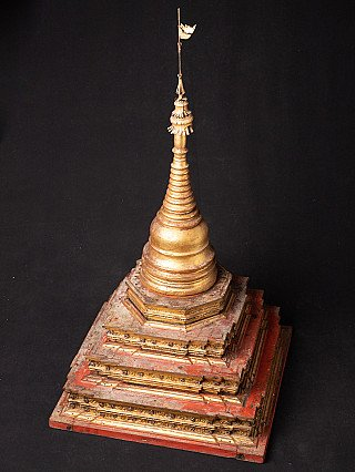 Large antique Burmese stupa