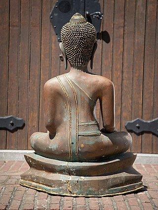 Oude bronzen Thaise Boeddha