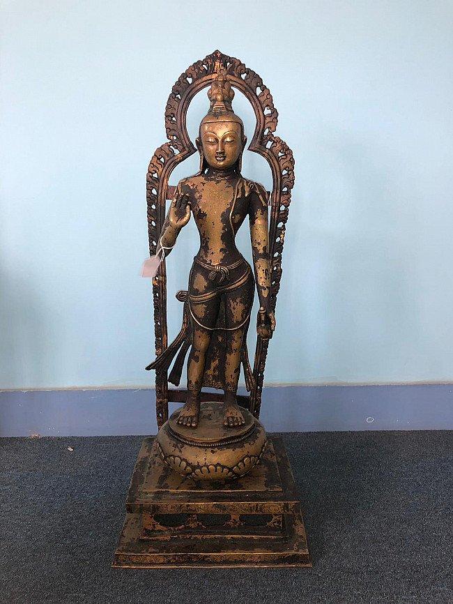 Antique Nepali Lokeshor statue