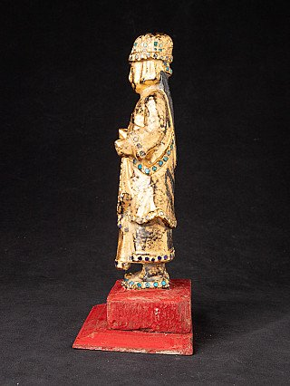 Antique wooden Burmese Nat statue
