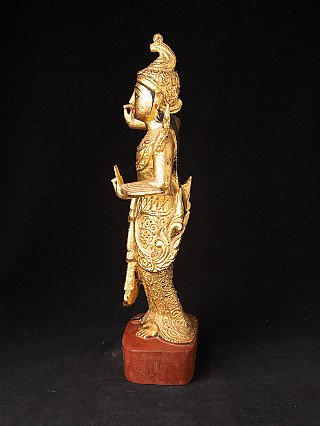 Antique gilded Burmese Nat statue