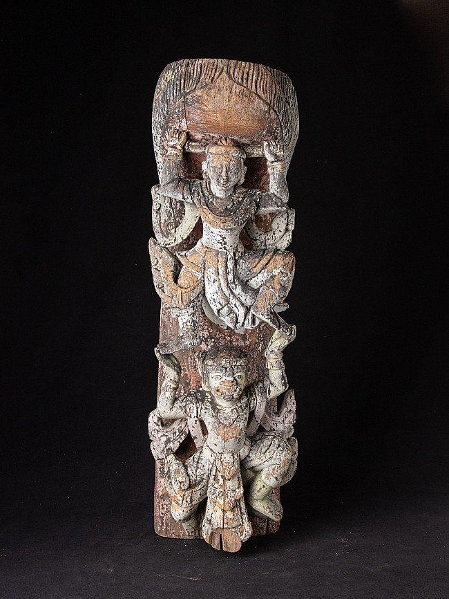 Antique wooden Burmese woodcarving