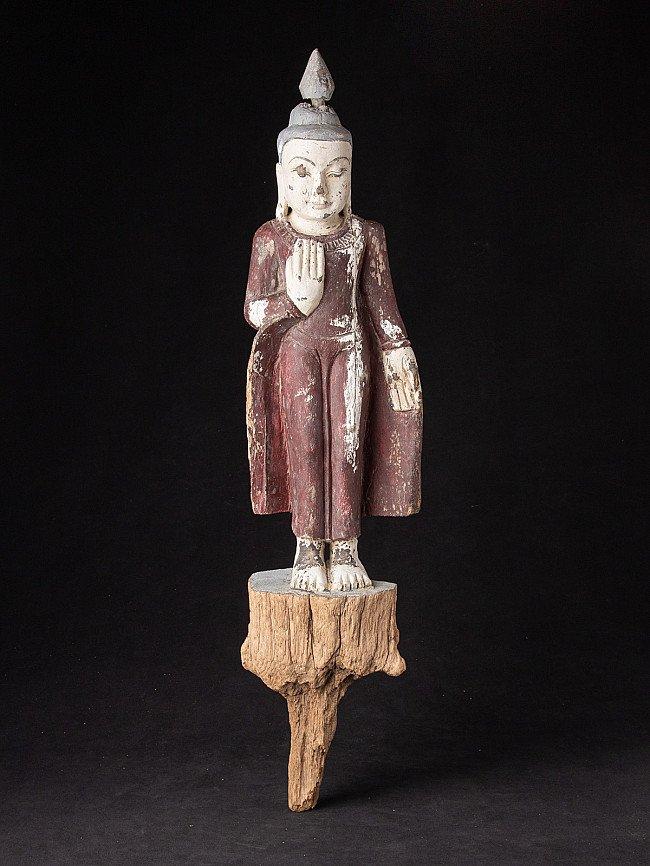 Alte holzerne Buddha Figur
