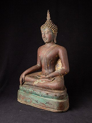 Antique bronze Sukhothai Buddha statue