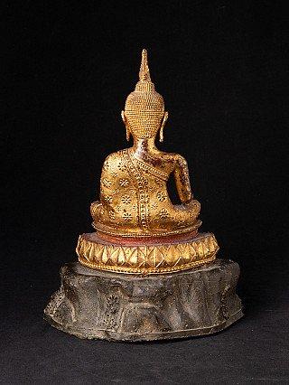 Antique bronze Rattanakosin Buddha statue