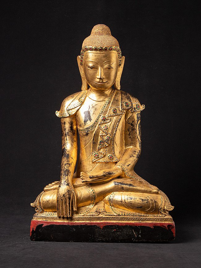 Special large antique Shan Buddha statue