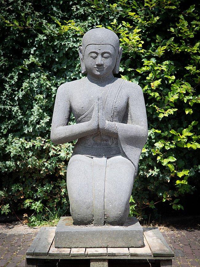 Large lavastone Monk statue