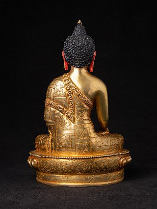 High quality Nepali gold face Buddha