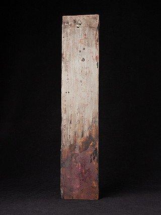 Old Nepali wooden panel with Tara figure