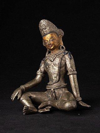 Old Nepali bronze Indra statue