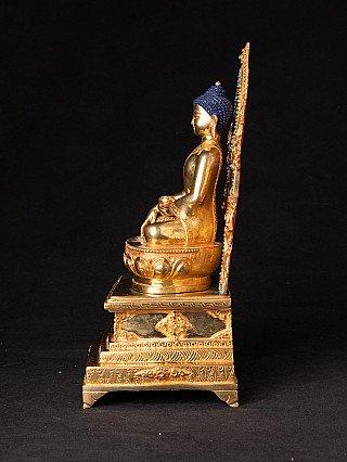 Newly made Nepali Buddha on throne