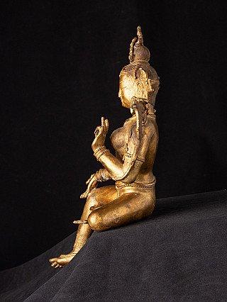 Oude Nepalese bronzen Groene Tara