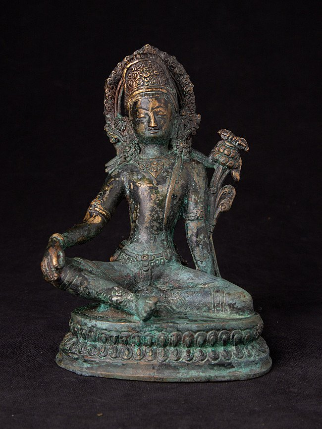 Old bronze Indra statue