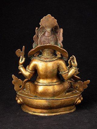 Old gilded bronze Ganesha statue