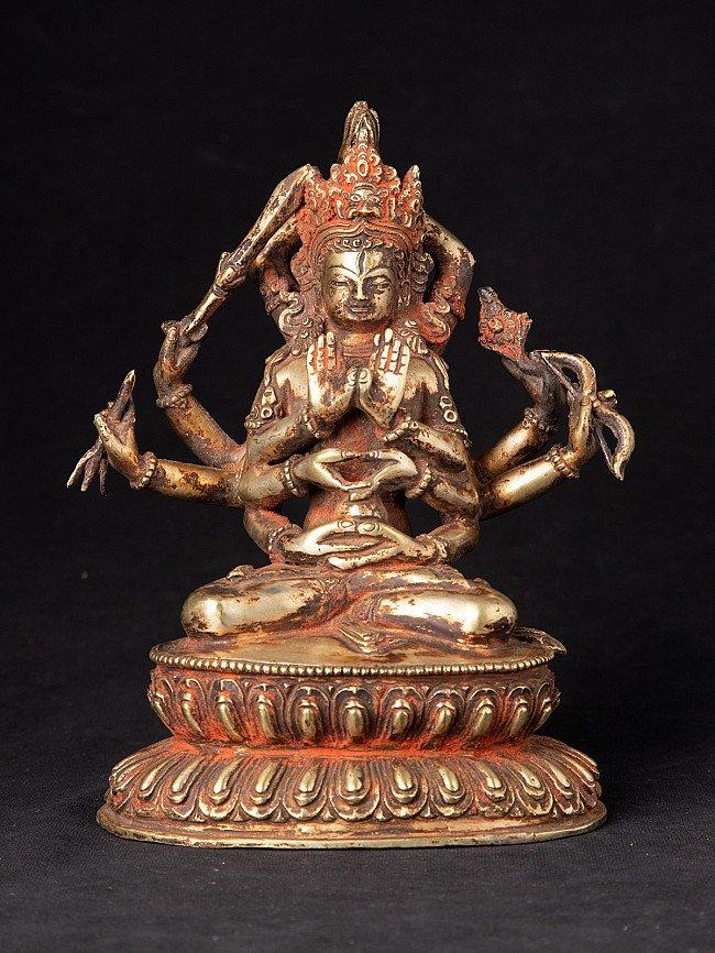 Antiek bronzen Maha Manjushree beeld